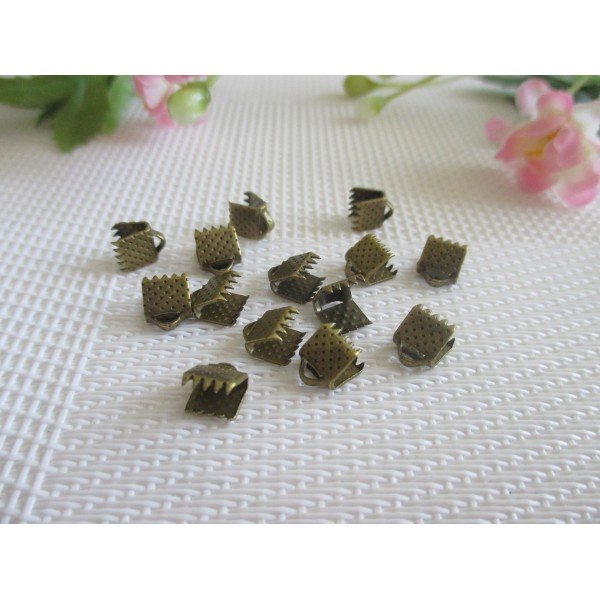 Embouts ruban à griffe 6 mm bronze x 50 - Photo n°2