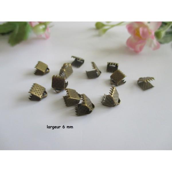 Embouts ruban à griffe 6 mm bronze x 50 - Photo n°1