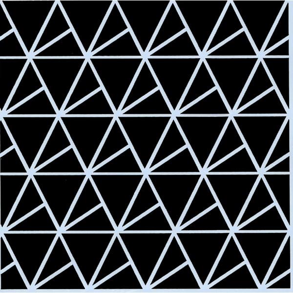 POCHOIR PLASTIQUE 13*13cm : motif géométrie (01) - Photo n°1