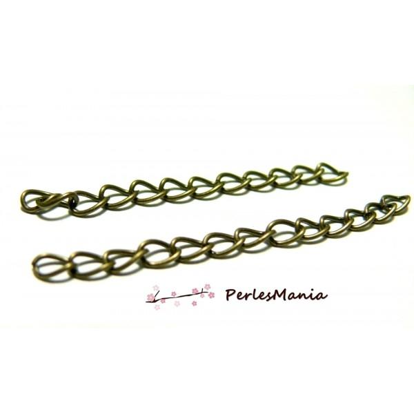 PS116363 PAX 50 chaines de confort, chaine d'extension, de règlage métal couleur Bronze - Photo n°1
