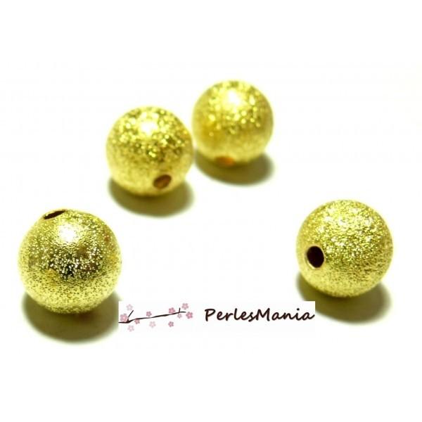 P225 PAX 40 perles intercalaires Stardust 8mm DORE pour création de collier - Photo n°1