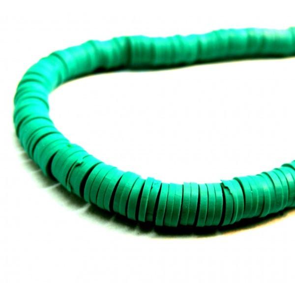 H0678 Lot 1 fil d'environ 380 Perles rondelles Heishi en pâte polymère 8 par 1mm couleur 07 - Photo n°1