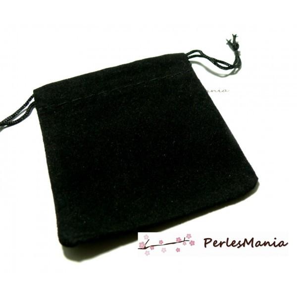 PS1196933 PAX 5 pochettes cadeaux velours RECTANGLE NOIR - Photo n°1