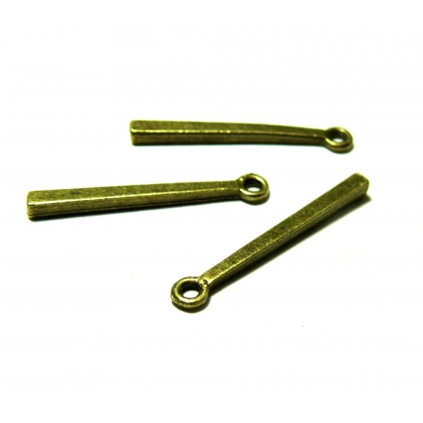 PS1128908 PAX 40 pendentifs breloque Tige tube rectangle metal couleur Bronze - Photo n°1