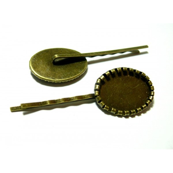 PS1117010 PAX 10 Supports de Barrette Rouleau 18 par 25mm métal couleur Bronze - Photo n°1