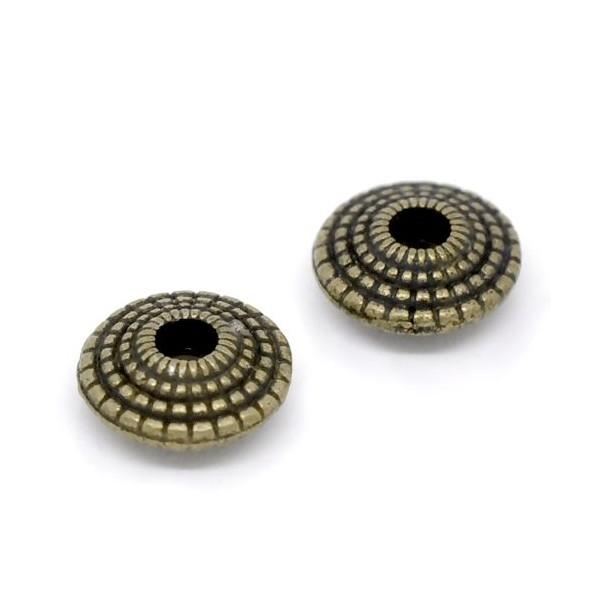 PS1112802 PAX 25 perles intercalaires 8 mm métal couleur Bronze - Photo n°1
