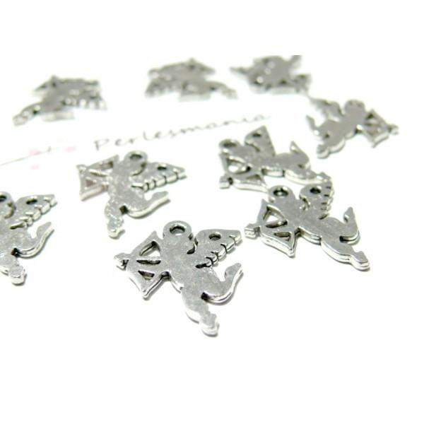 Lot de 20 pendentifs Anges metal couleur Argent Antique 2B2355 - Photo n°1