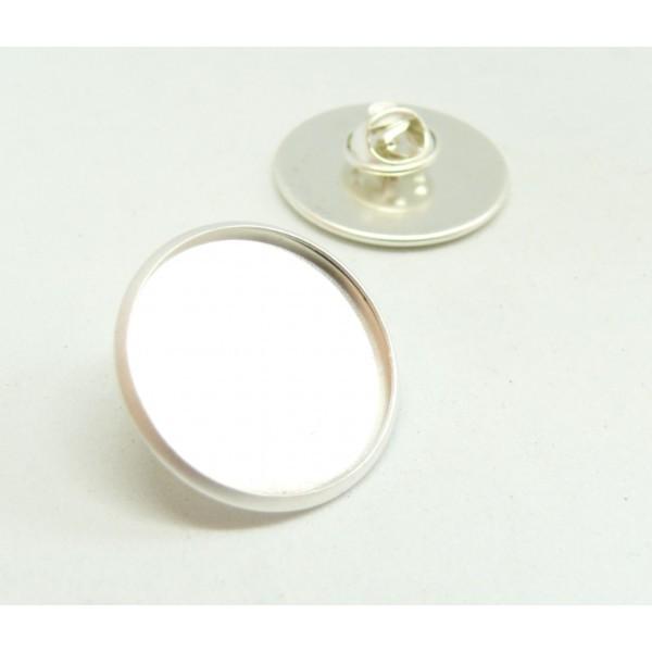 BN1131161 PAX 10 supports de broche PINS en 20mm Laiton couleur Argent Mate - Photo n°2