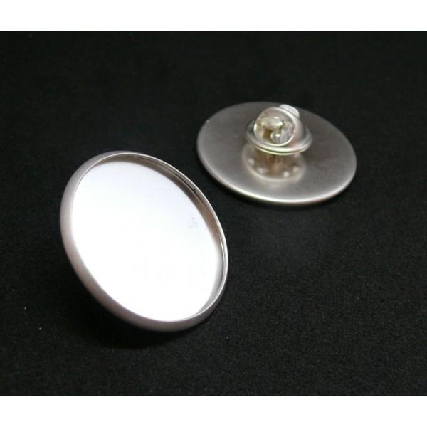 BN1131161 PAX 10 supports de broche PINS en 20mm Laiton couleur Argent Mate - Photo n°1