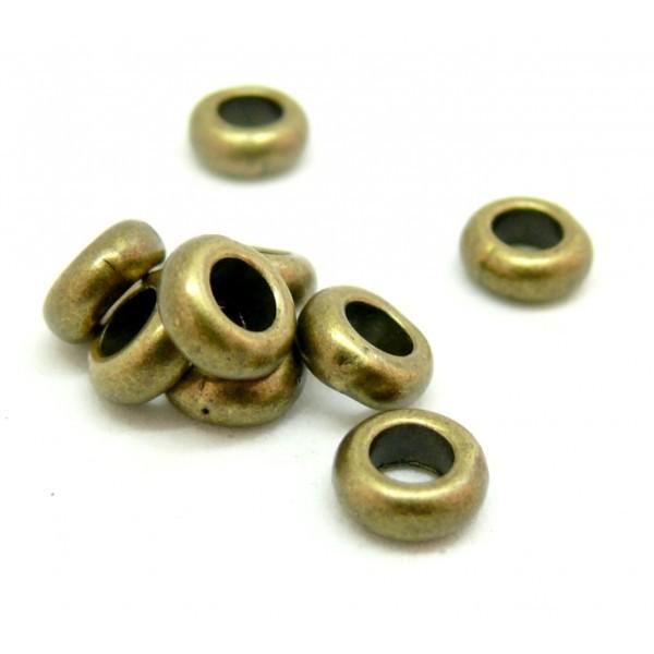 H11540Y PAX 50 perles intercalaires Rondelles 7mm metal couleur Bronze - Photo n°1