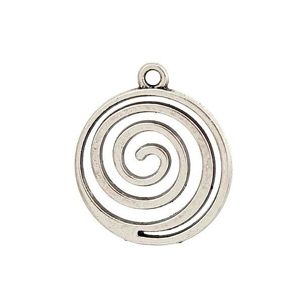 PS110103788 PAX 10 pendentifs, breloques Spirales coloris Argent Antique - Photo n°1