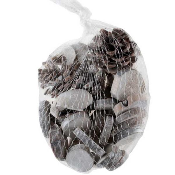 Minis rondins et Pommes de pin à parsemer x 100 grs - Photo n°1