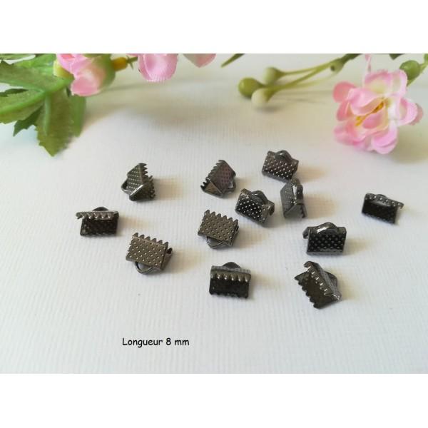 Embouts ruban à griffes 8 mm gunmétal x 50 - Photo n°1