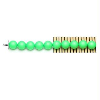 50 Perles Swarovski 4mm Crystal Neon Green Pearl
