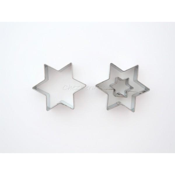 Emporte-pièces pour biscuits confiture - Etoile petite avec étoile - Photo n°1