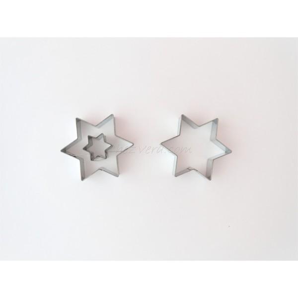 Emporte-pièces pour biscuits confiture - Etoile avec grande étoile - Photo n°1