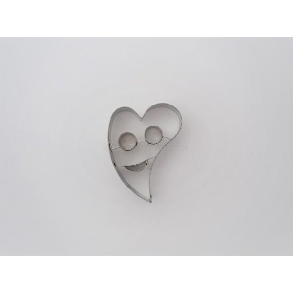Emporte-pièce Coeur penché avec visage - Photo n°1