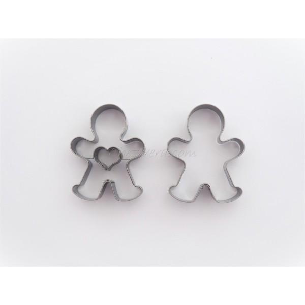 Emporte-pièces pour biscuits confiture - Bonhomme avec coeur - Photo n°1
