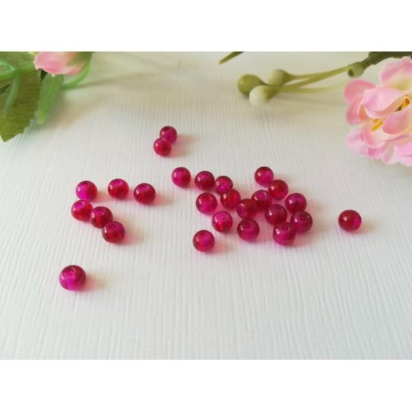 Perles en verre craquelé 4 mm prune x 50 - Photo n°2