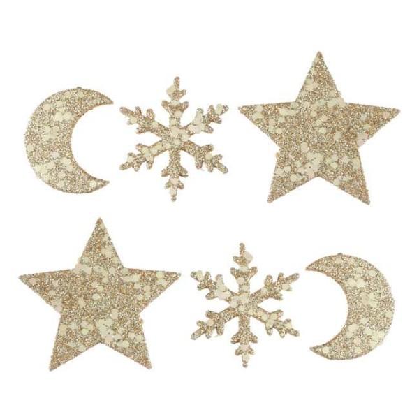 Assortiment de Noël constellation pailleté or à parsemer - Photo n°1