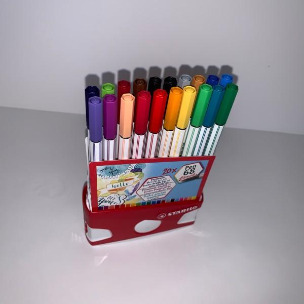 20 Feutres pinceaux aquarellables pen 68 Stabilo - Photo n°1