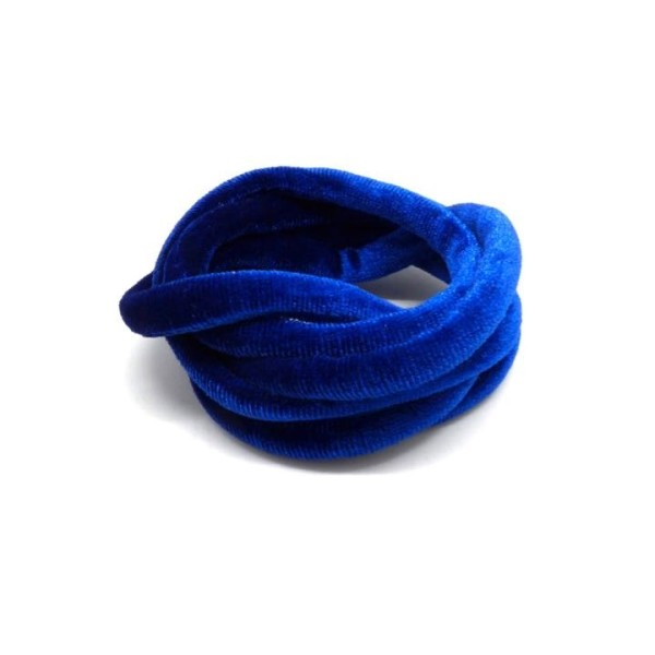 1m Cordon Élastique Spaghetti En Velours 5mm Bleu Outremer - Photo n°1