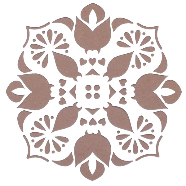 POCHOIR PLASTIQUE 13*13cm : motif fleur (09) - Photo n°1