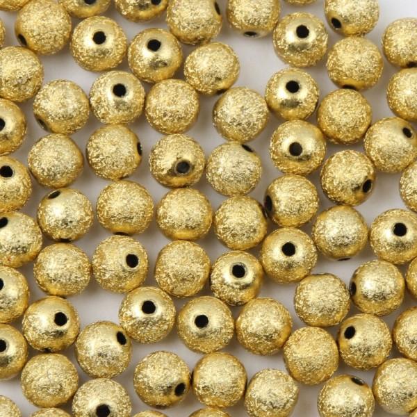 20 Perles en Acrylique Stardust 8mm Doré Creation Bijoux, bracelet - Photo n°1