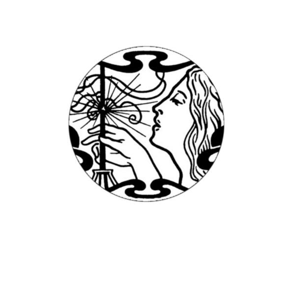 2 Cabochons 14 mm Verre Rond, Art Nouveau Noir et Blanc Femme Profil 4 - Photo n°1