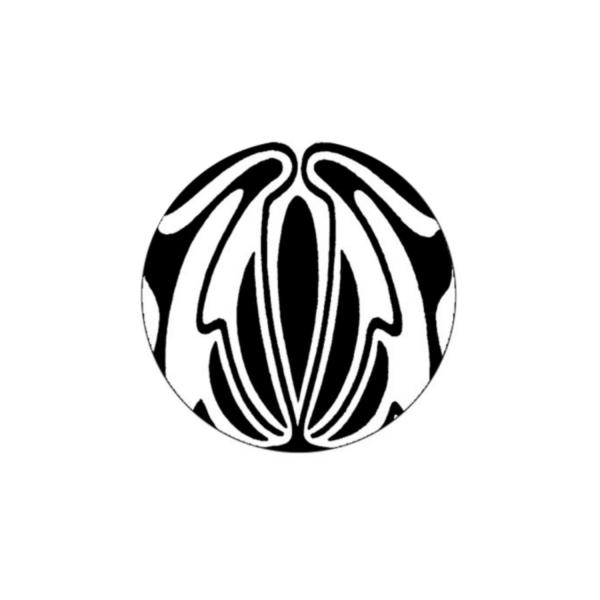 2 Cabochons 14 mm Verre Rond,  Art Nouveau Noir et Blanc 6 - Photo n°1
