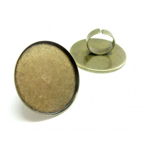 BN1122819 Lot 1 support de bague XXL 40mm qualité extra Laiton coloris Bronze - Photo n°2
