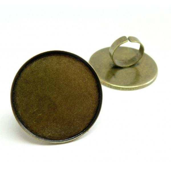 BN1122819 Lot 1 support de bague XXL 40mm qualité extra Laiton coloris Bronze - Photo n°1