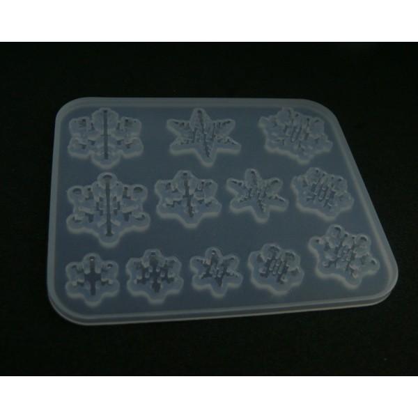H3304B PAX 1 Moule en Silicone Flocons de Neige pour Creation Fimo Cernit Resine - Photo n°1