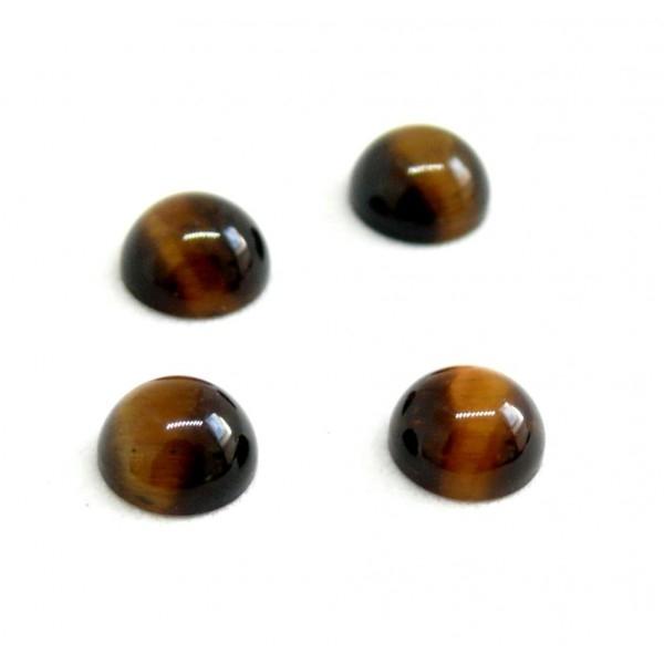 HR4166 PAX de 10 cabochons demi perle 6mm Oeil du Tigre Coloris 35 - Photo n°2