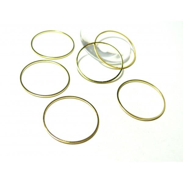 H11327630 PAX 20 anneaux connecteur fermé Rond couleur Doré 30mm - Photo n°1
