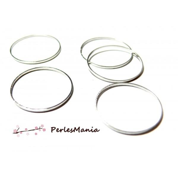 H11327635 PAX 20 anneaux connecteur fermé Rond couleur Argent Vif 35mm - Photo n°1