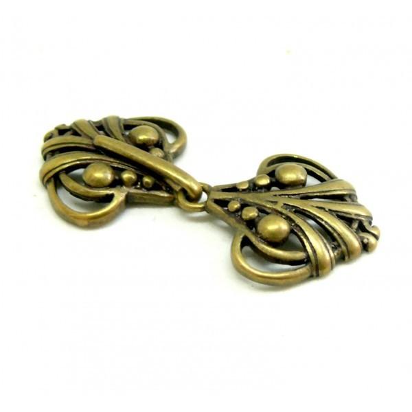 1 connecteur Retro style Art Nouveau 5 cm métal couleur Bronze - Photo n°1
