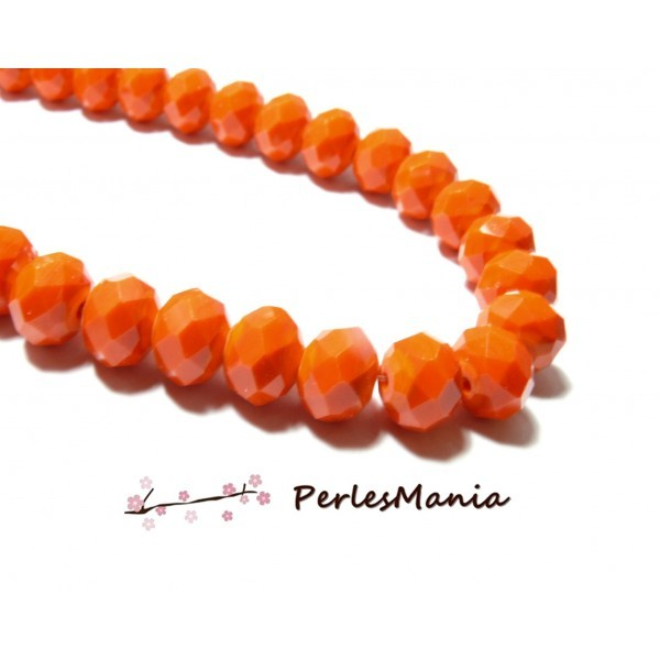 1 fil d'environ 149 perles Rondelles Verre Facettée Orange 4 par 3mm I033 Couleur 06 - Photo n°1