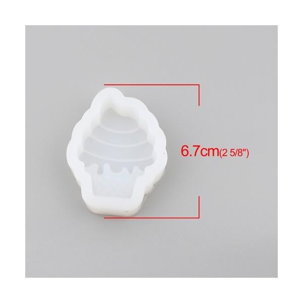 PS110255875 PAX 1 moule en silicone Cornet de Glace pour créations en résine 67 par 50mm - Photo n°2