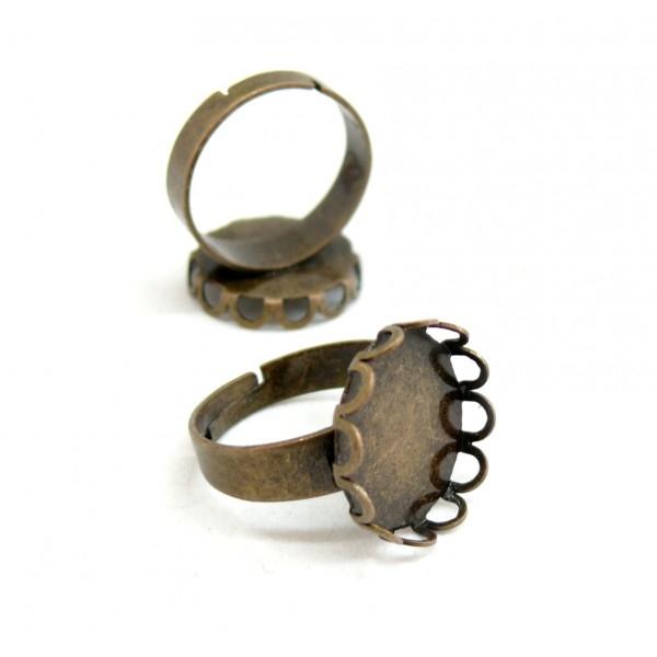BN1126493 PAX 10 supports de bague vague qualité Laiton 15mm Laiton Couleur Bronze - Photo n°1