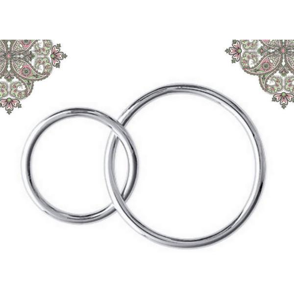Argent 925- Connecteur anneaux entrelacés 10 et 20mm pour chaines et bracelets - Photo n°1
