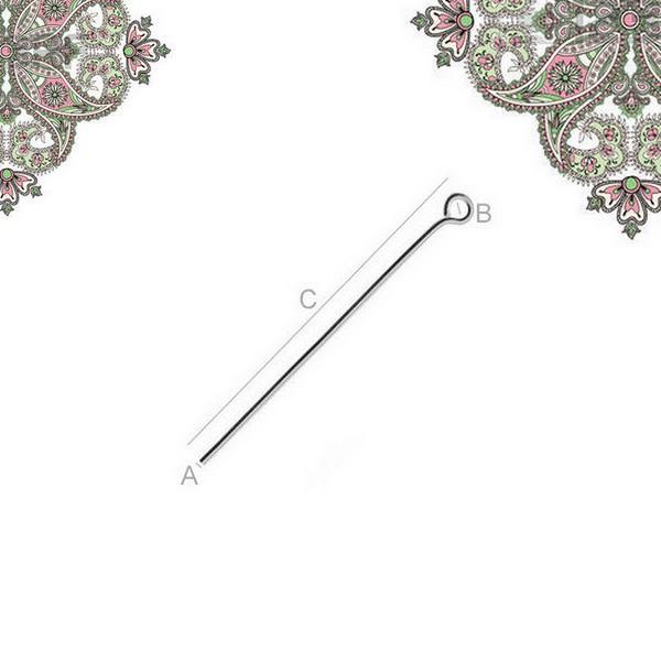 Argent 925 - lot de 5 tiges anneaux de 4 cm pour creation de bijoux - Photo n°1