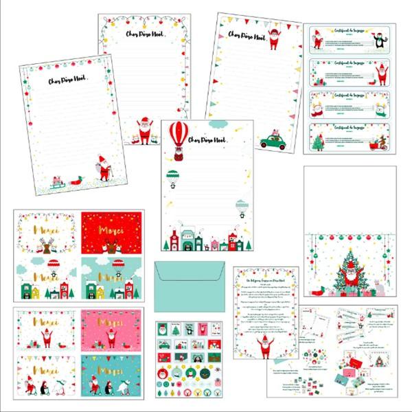 Kit Scrapbooking - Lettres au Père Noël - Photo n°2