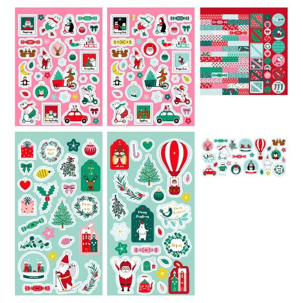 Kit Scrapbooking Stickers - Noël - Photo n°2
