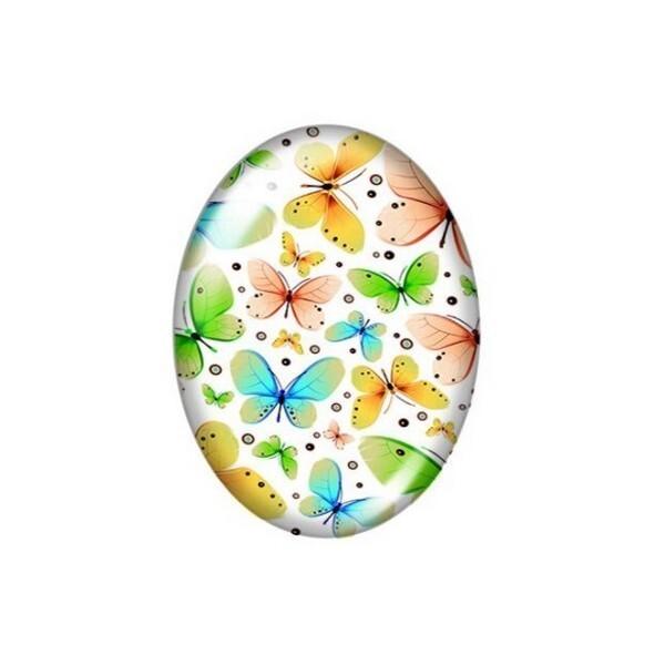 2 cabochons ovale en verre 18 x 25 mm FEMME AFRICAINE AFRIQUE A - Photo n°1