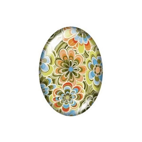 2 cabochons ovale en verre 18 x 25 mm FEMME AFRICAINE AFRIQUE B - Photo n°1