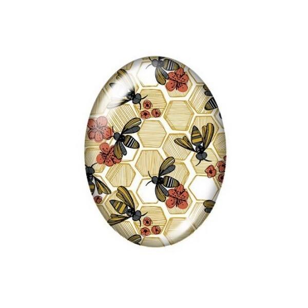 2 cabochons ovale en verre 18 x 25 mm FEMME AFRICAINE AFRIQUE C - Photo n°1