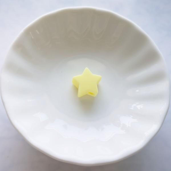 Perle en Silicone Etoile 13mm x 13mm, Creation Attache Tetine - Photo n°1