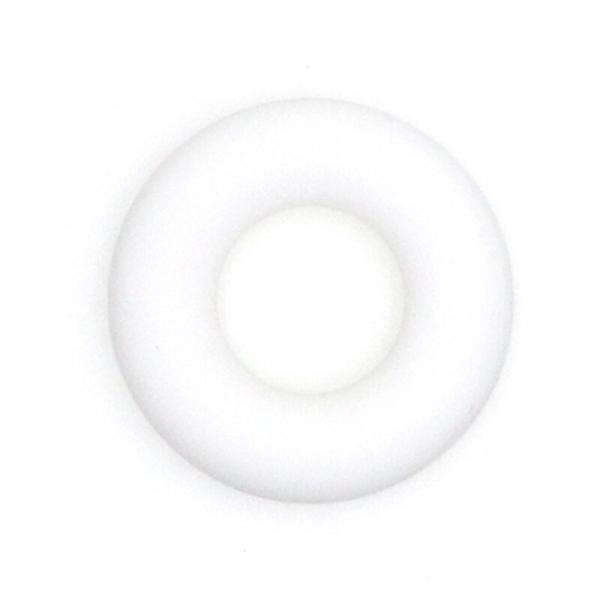 Anneau Dentition Silicone Donut 43mm Blanc , Creation Attache Tetine - Photo n°1