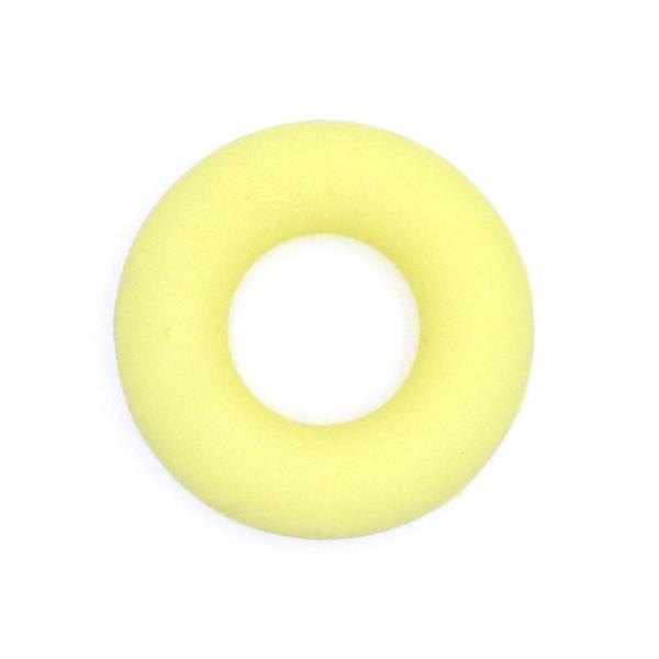 Anneau Dentition Silicone Donut 43mm Jaune , Creation Attache Tetine - Photo n°1